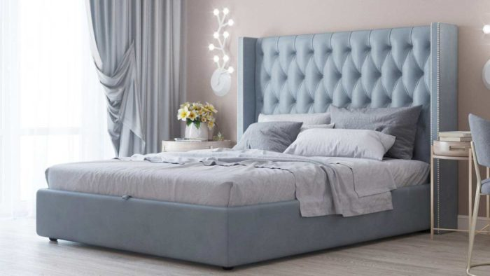Перетяжка и обивка кровати