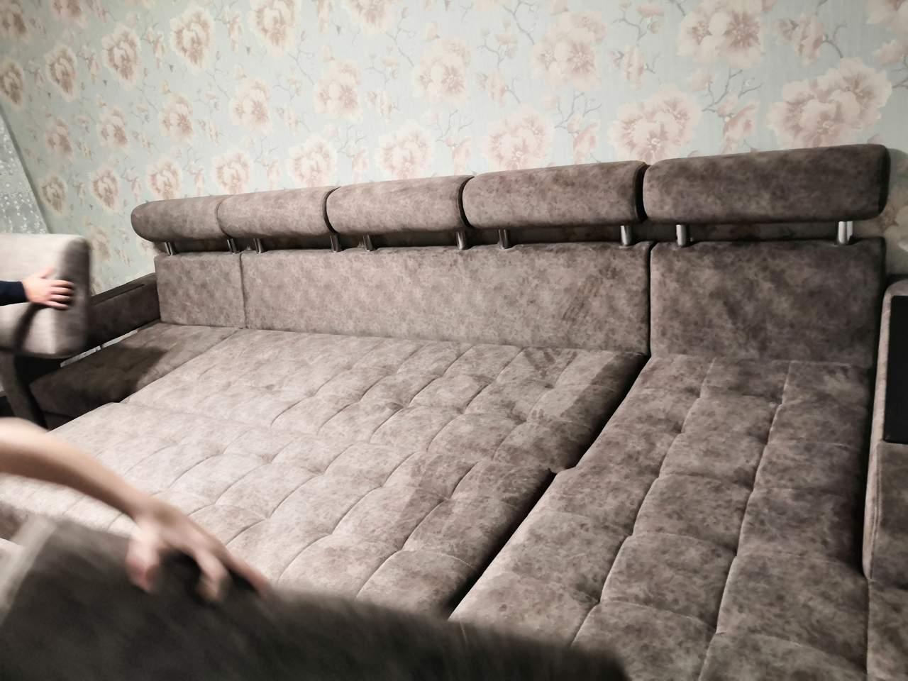 Перетяжка дивана с оттоманкой Казань