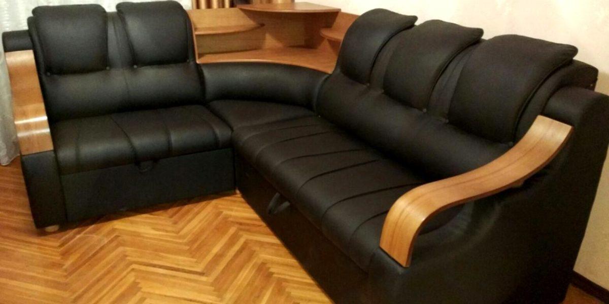 Перетяжка углового дивана - Дербышки